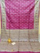 Pure Tussar ghicha printed sarees